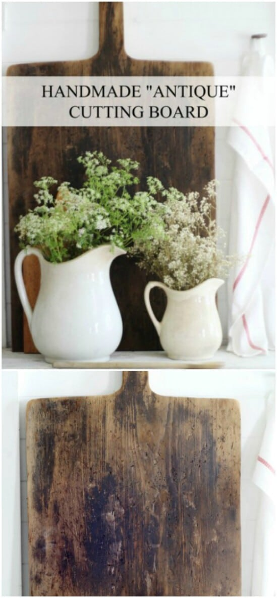 DIY Antique Style Cutting Board