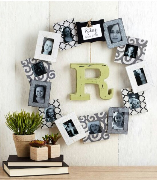 DIY Personalized Photo Frame Wreath