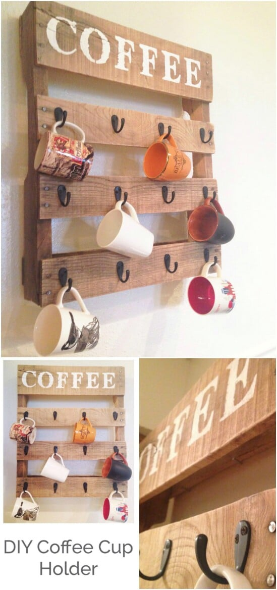 2 pallet coffee station - Country Farmhouse Decorating Ideas