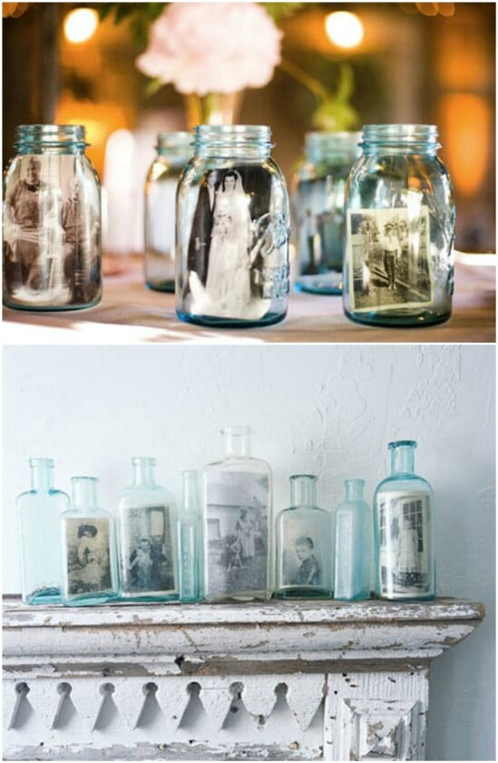 Vintage Bottle Photo Displays