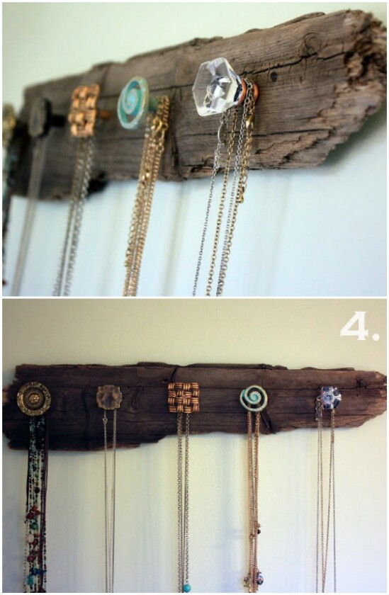 Wooden Necklace Holder