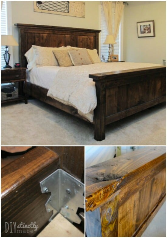 farmhouse bedroom furniture. DIY Pottery Barn Inspired Farmhouse Bed 55 Gorgeous Furniture and Decor Ideas For A Rustic
