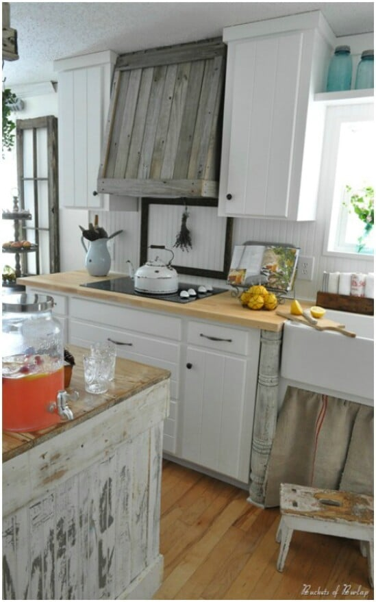 Reclaimed Wood Vent Hood