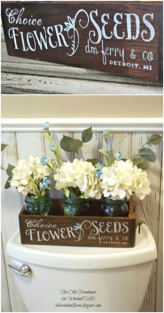 Antique Sewing Drawer Seed Box