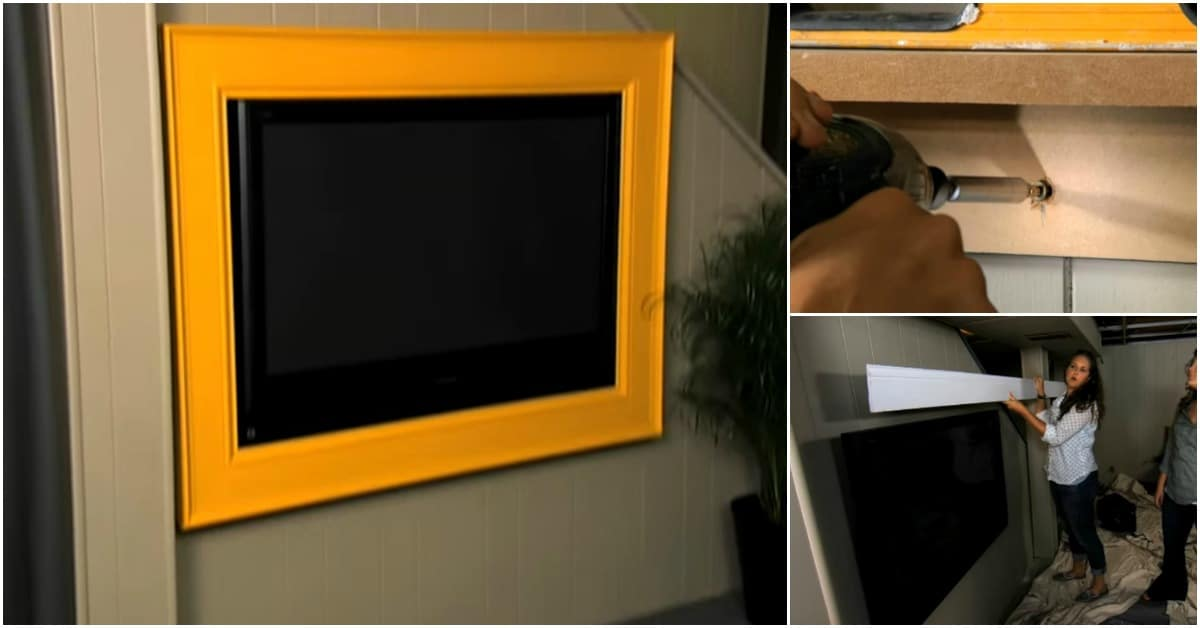 How To Create A Rustic Wood Frame For Your Flat Screen Tv Diy Crafts