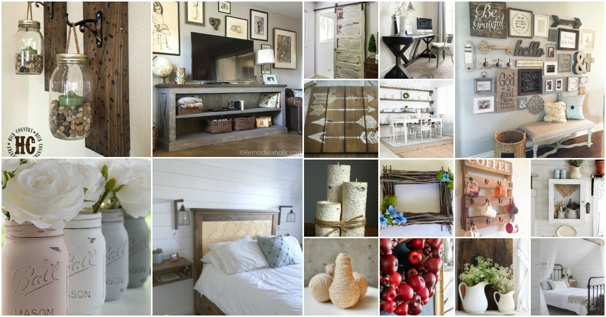 55 gorgeous diy farmhouse furniture and decor ideas for a for Beautiful home decor ideas