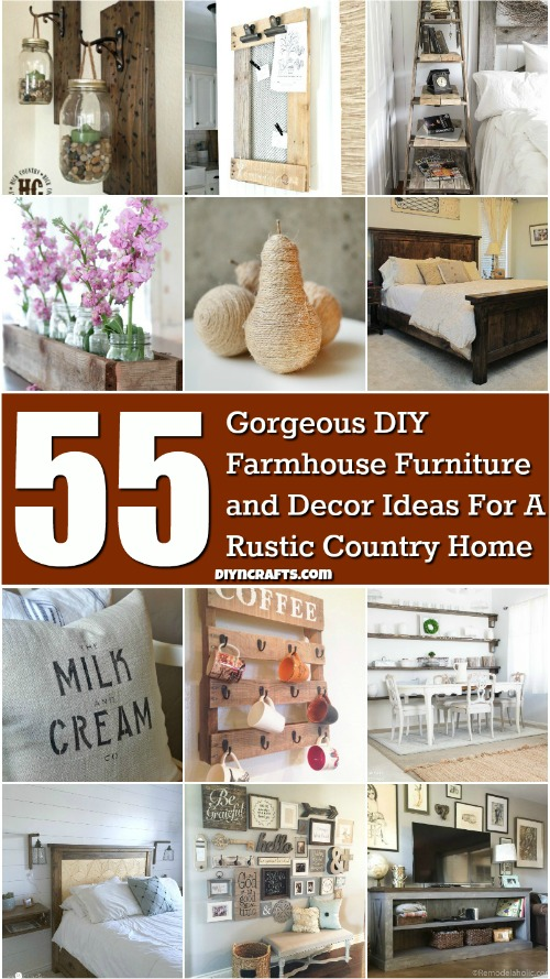 55 Gorgeous DIY Farmhouse Furniture and Decor Ideas For A Rustic