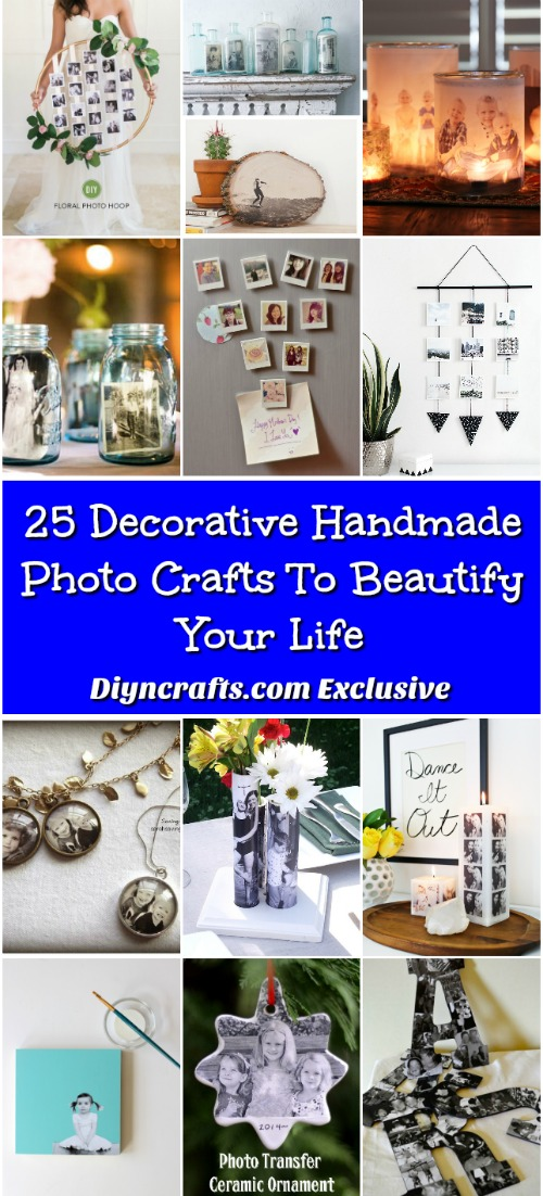 25 Decorative Handmade Photo Crafts To Beautify Your Life {With tutorial links}