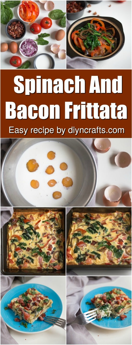 Wake Up To Deliciousness With This Spinach And Bacon Frittata