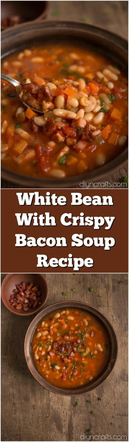 White Bean With Crispy Bacon Soup - The Yummiest Soup For The Winter Blues
