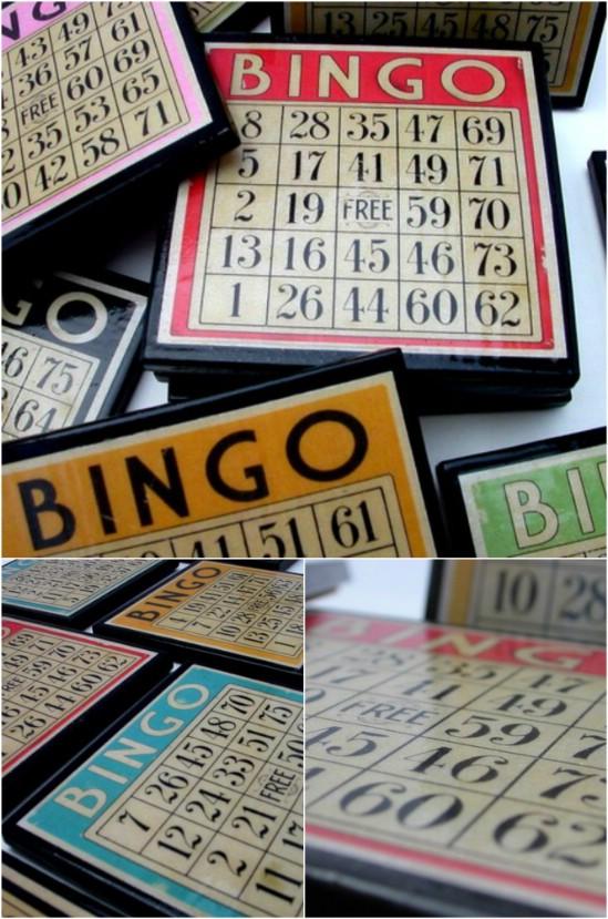 DIY Bingo Card Coasters