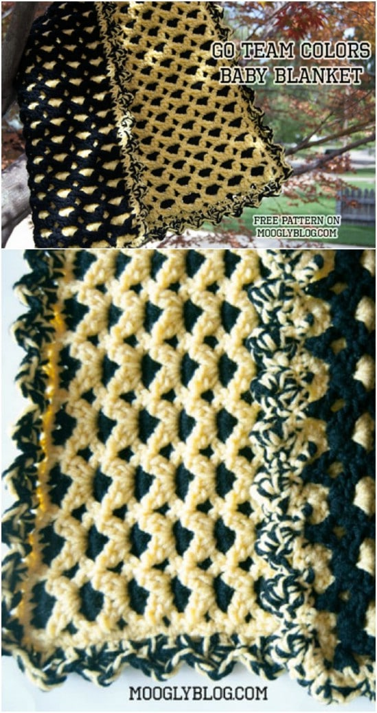25 quick and easy crochet blanket patterns for beginners diy crafts go team colors blanket dt1010fo