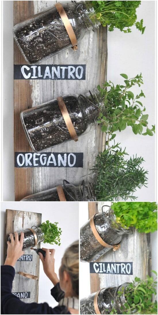 DIY Herb Garden Jars - 30 Mind Blowing DIY Mason Jar Organizers You'll Want To Make Right Away