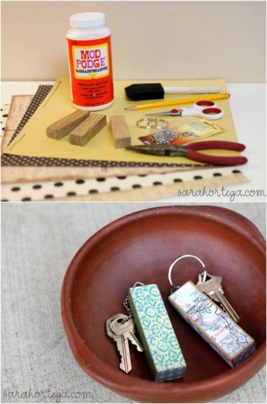 DIY Jenga Keychain