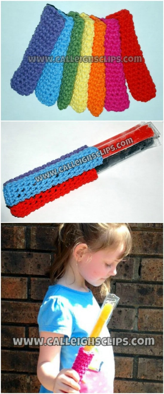 Crocheted Popsicle Snuggy