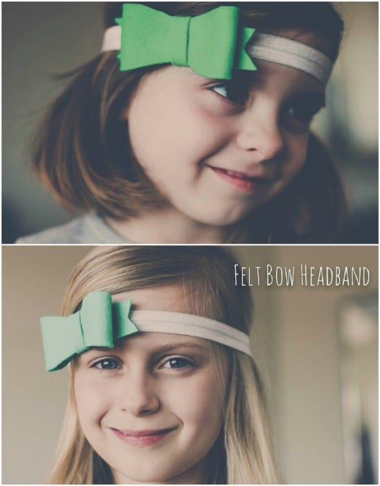 DIY Green Felt Headband