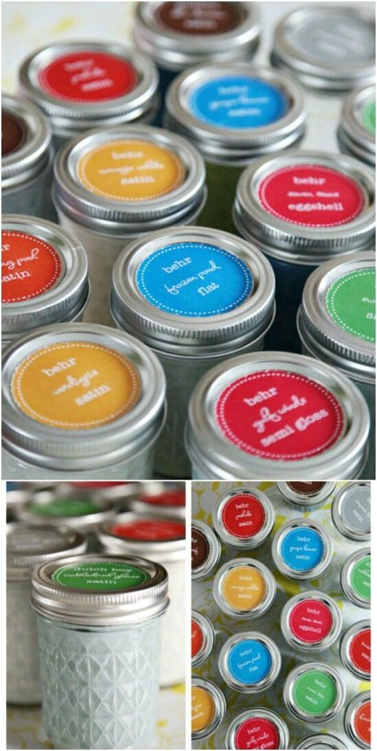 Paint Storage - 30 Mind Blowing DIY Mason Jar Organizers You'll Want To Make Right Away