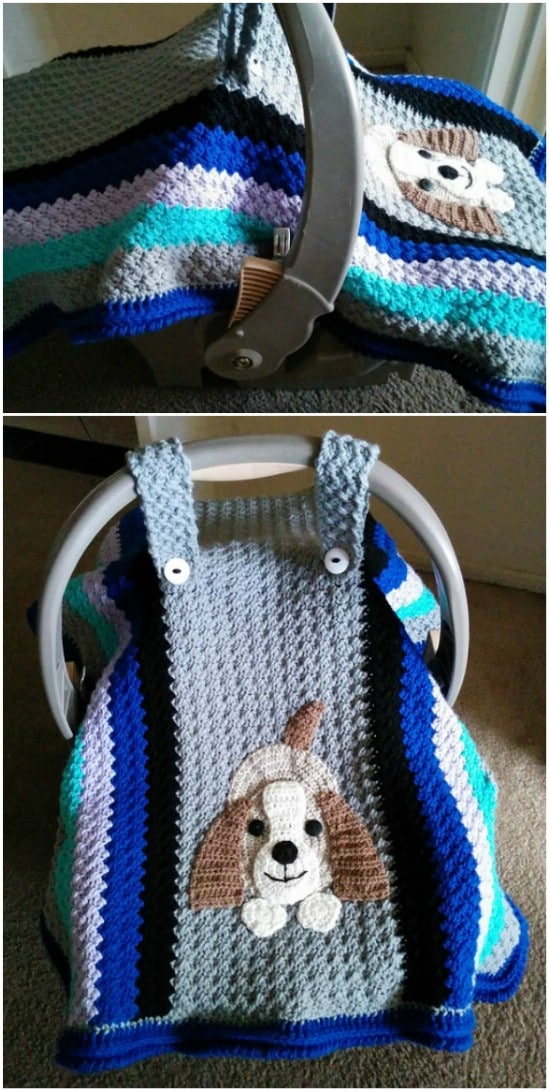 Simple Crocheted Car Seat Cover