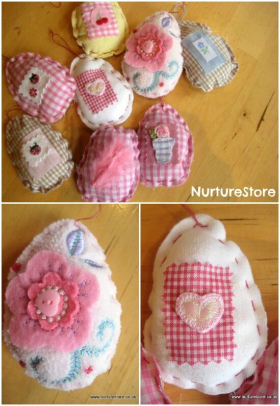 Baby Clothing Heirloom Easter Eggs - 20 Adorably Creative Upcycling Projects To Repurpose Old Baby Clothes
