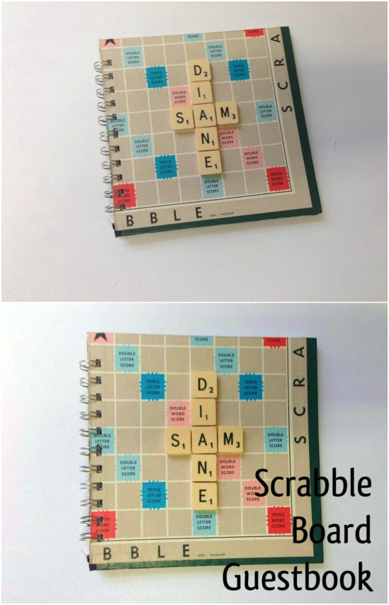 Scrabble Board Wedding Guest Book