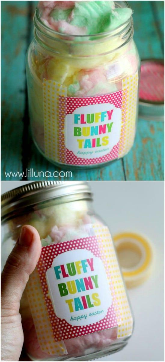 Fluffy Bunny Tails Jar