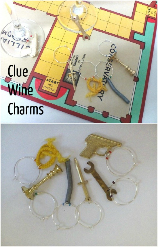 Clue Game Wine Charms