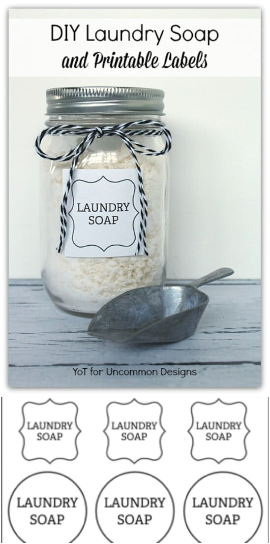 Homemade Laundry Soap Storage - 30 Mind Blowing DIY Mason Jar Organizers You'll Want To Make Right Away
