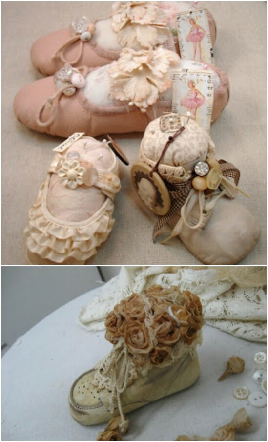 Baby Shoe Frame - 20 Adorably Creative Upcycling Projects To Repurpose Old Baby Clothes