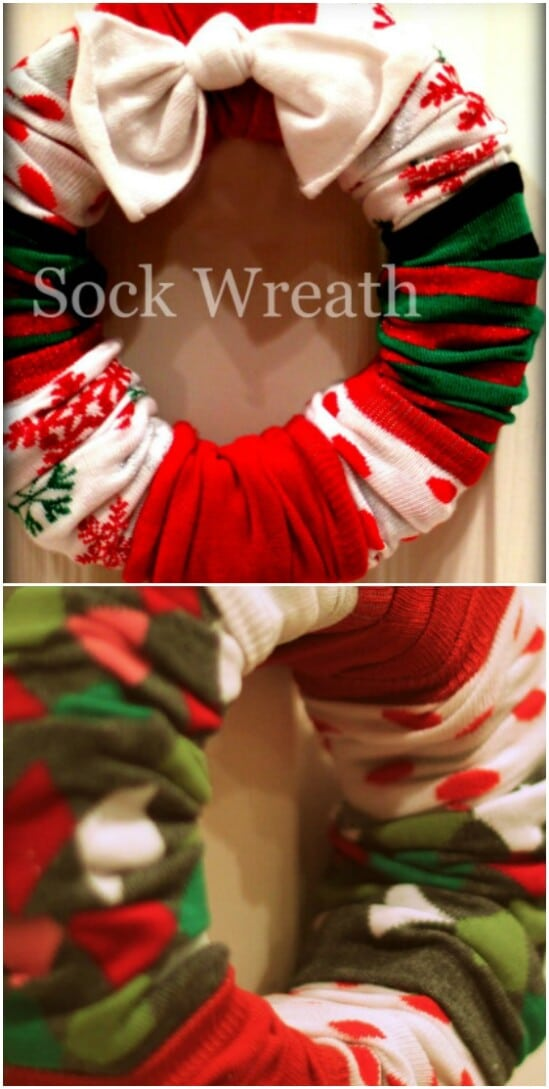 Easy DIY Sock Wreath