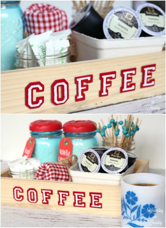 Coffee Station Creamer Jars - 30 Mind Blowing DIY Mason Jar Organizers You'll Want To Make Right Away