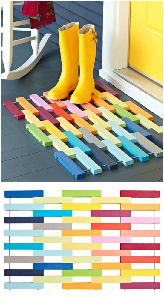 Colorful Welcome Mat