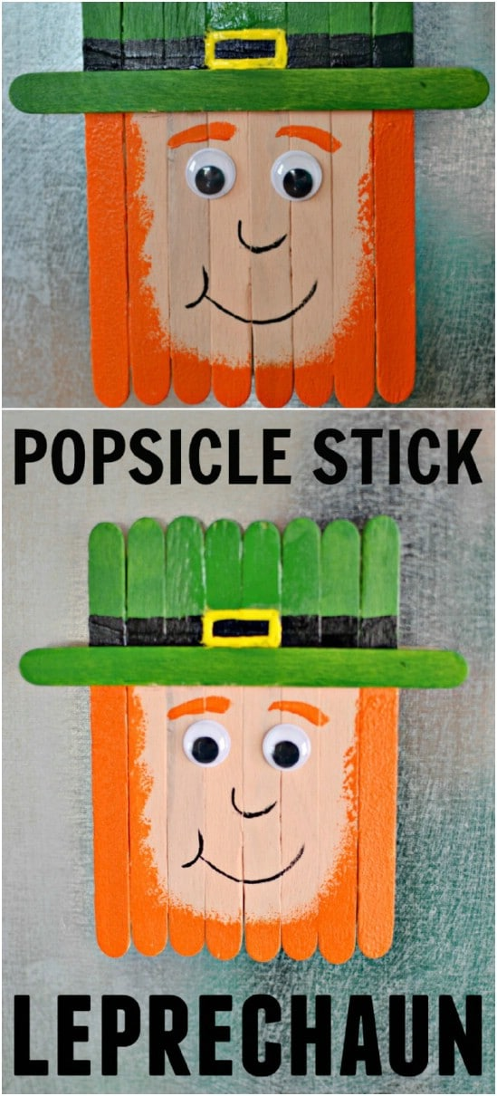 Popsicle Stick Leprechaun