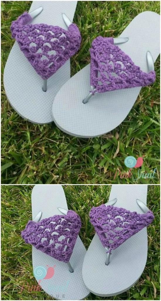 Peekaboo Crocheted Flip Flops