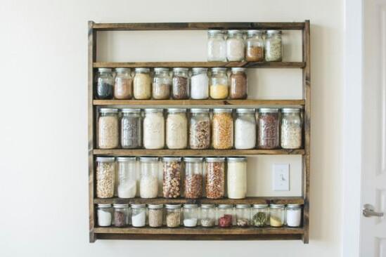 Mason Jar Pantry Organization - 30 Mind Blowing DIY Mason Jar Organizers You'll Want To Make Right Away
