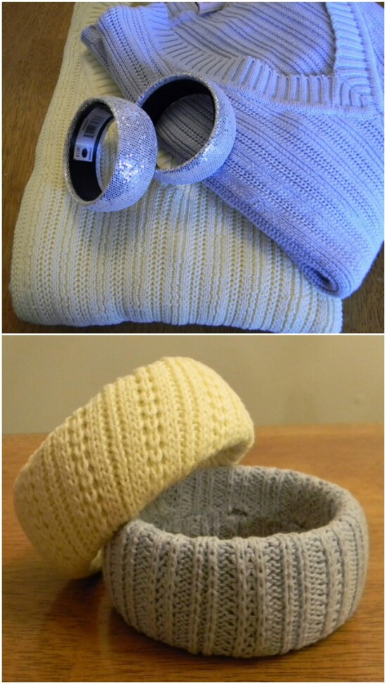 Sweater Bangles - 50 Amazingly Creative Upcycling Projects For Old Sweaters