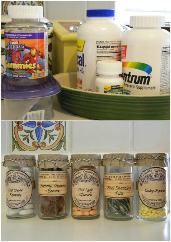 Vitamin Organizers - 30 Mind Blowing DIY Mason Jar Organizers You'll Want To Make Right Away