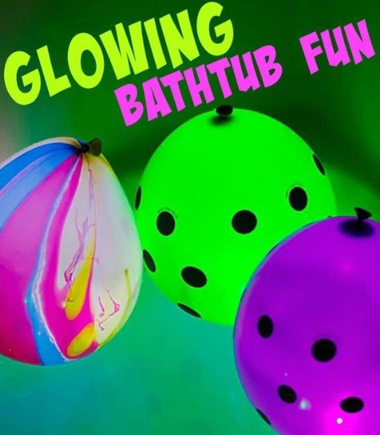 Glow In The Dark Bathtub Fun - 25 Amazingly Fun Glow In The Dark DIY  Projects