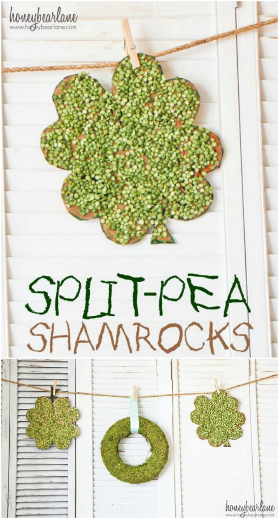 Split Pea Shamrocks