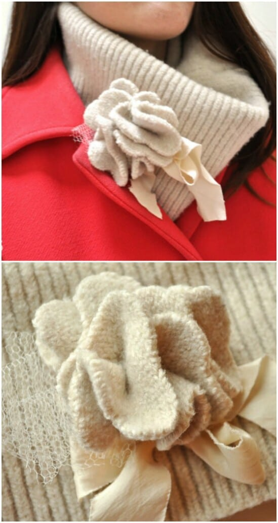 Sweater Neck Warmer - 50 Amazingly Creative Upcycling Projects For Old Sweaters