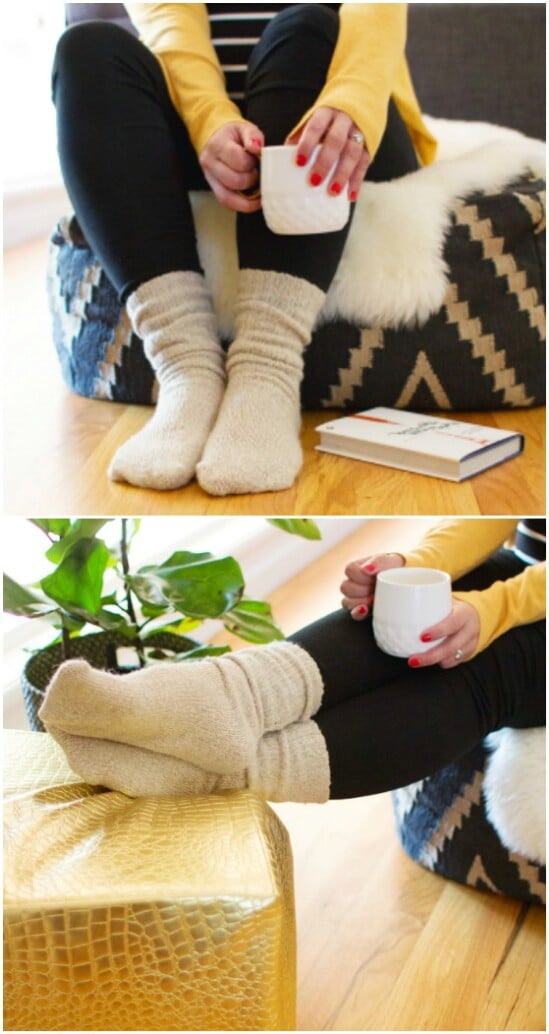 DIY Cozy Sweater Socks - 50 Amazingly Creative Upcycling Projects For Old Sweaters