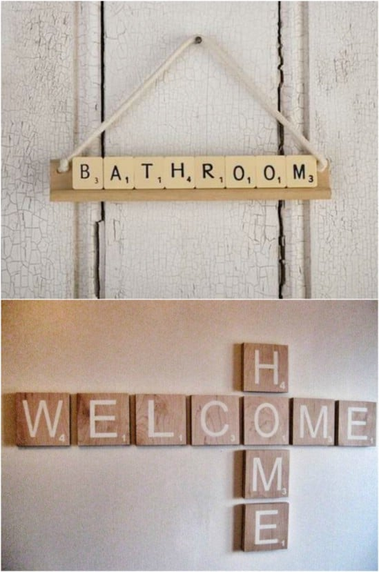 How To Attach Scrabble Wall Tiles
