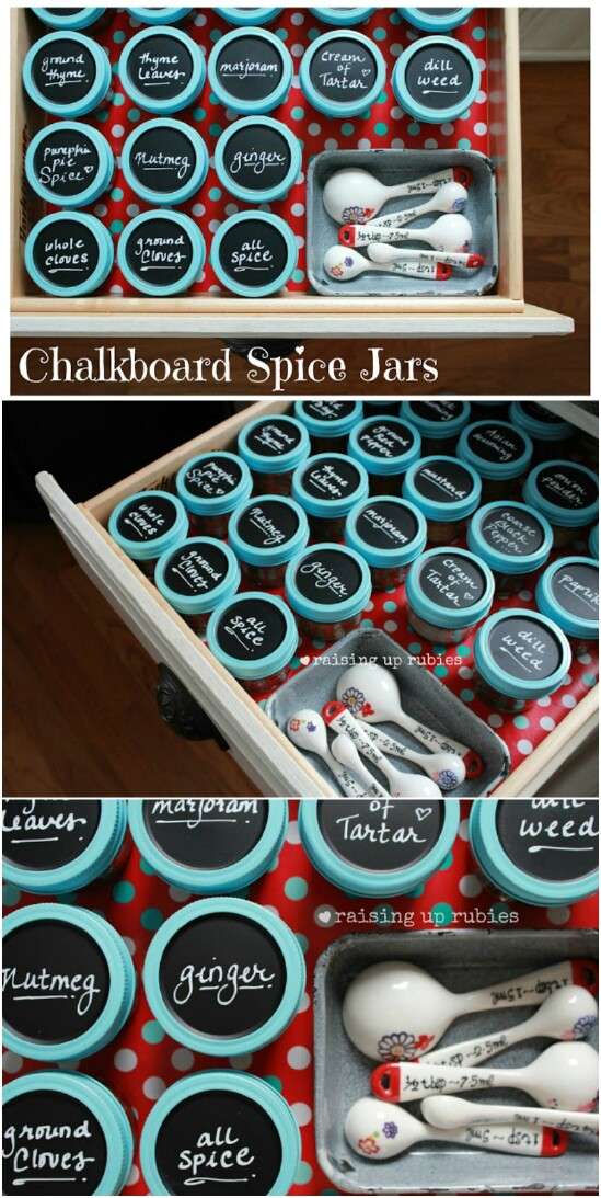 DIY Mason Jar Spice Rack - 30 Mind Blowing DIY Mason Jar Organizers You'll Want To Make Right Away