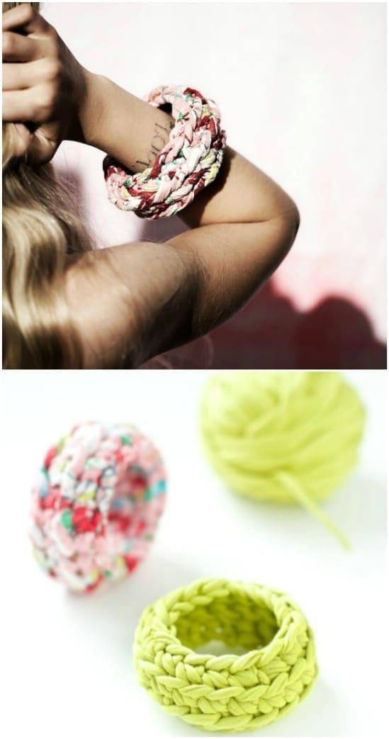 Easy Crocheted Bangle Bracelets