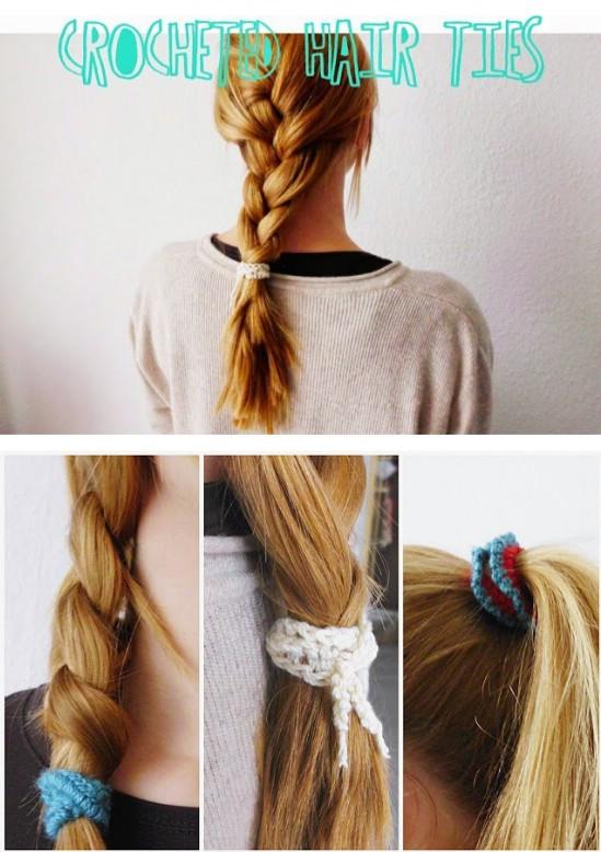 Crocheted Hair Ties