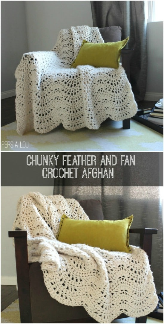 Pretty Crocheted Afghan