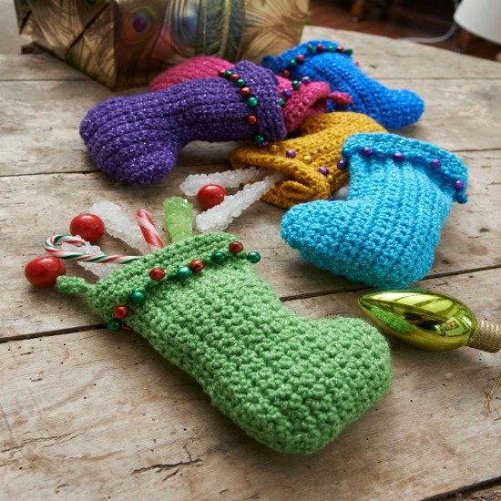 Colorful DIY Crocheted Stockings