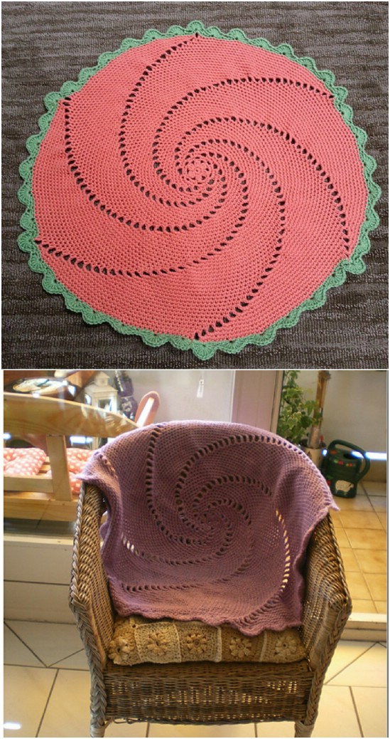 25 quick and easy crochet blanket patterns for beginners diy crafts this swirl blanket is certainly unique and makes the perfect throw for the back of your tea sipping and reading chair this one is really easy too ccuart Gallery