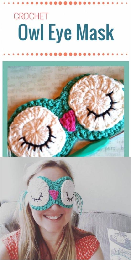 Crocheted Eye Mask