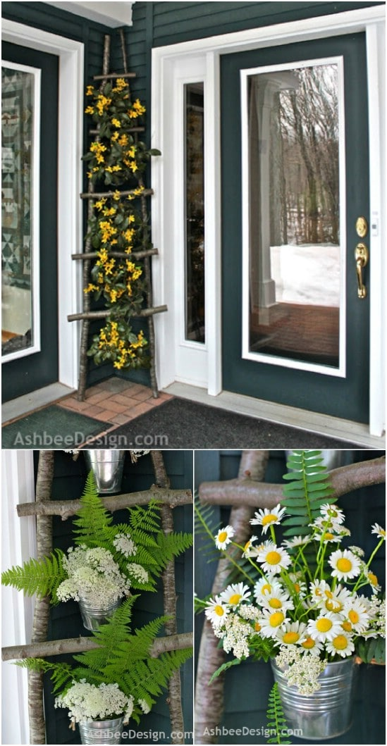 25 creative diy spring porch decorating ideas it s all for Diy twig decor