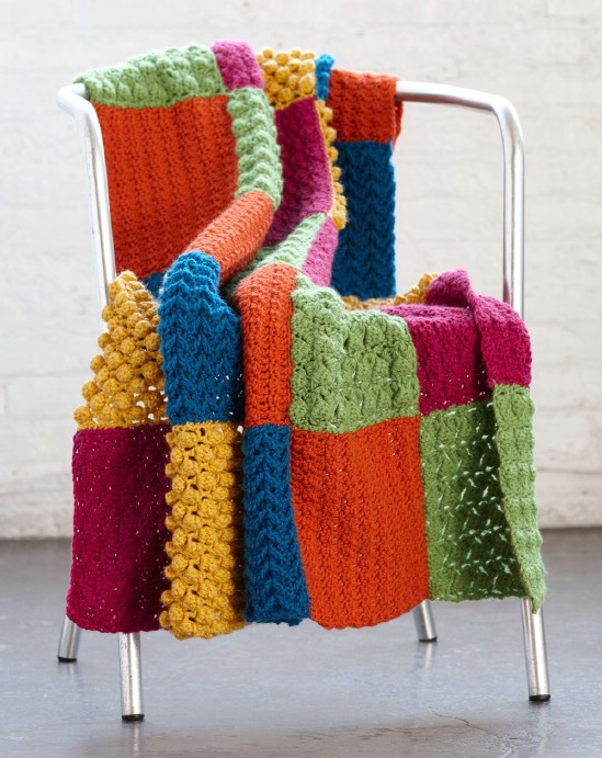 Knitting Pattern Sampler Afghan : 25 Quick And Easy Crochet Blanket Patterns For Beginners - DIY & Crafts